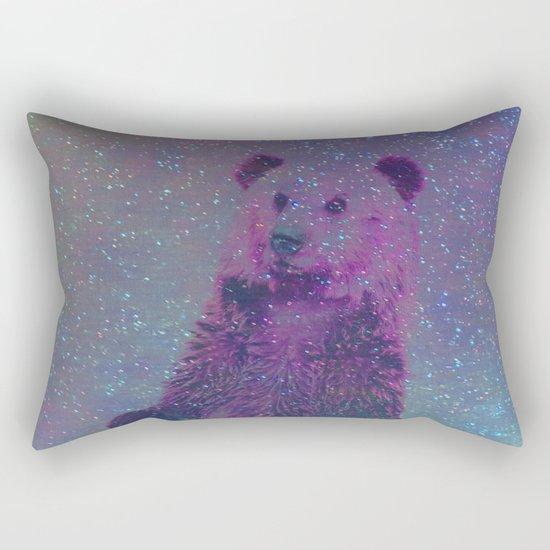 Bear Nebula (brown bear in the stars) Rectangular Pillow