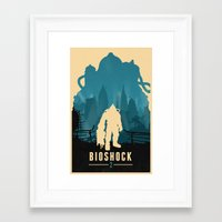 bioshock Framed Art Prints featuring Bioshock 2 by Bill Pyle