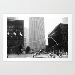 Manhattan skyscraper Art Print