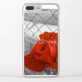 Stay Strong as the Rose Clear iPhone Case