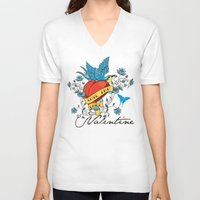 valentine V-neck T-shirts featuring Valentine by Tshirt-Factory