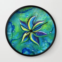 The Fallen One- Story Of A Flower Colorful Abstract Painting Wall Clock