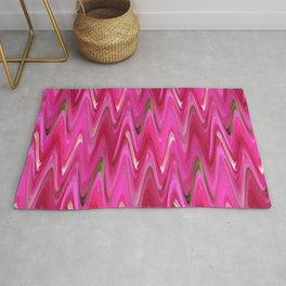 Zigzag Bright Pink Rug