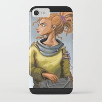 leah flores iPhone & iPod Cases featuring Leah by Khlö