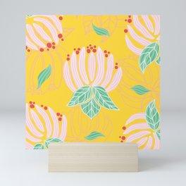 Blush Bloom Peony Lemon Mini Art Print