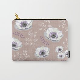 Anemones IV: pattern beige Carry-All Pouch