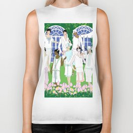 Gatsby Girl Garden Party Biker Tank