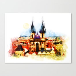 Prague Church of Our Lady before Tyn Canvas Print