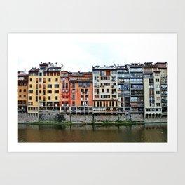 Florence: Arno River Art Print