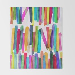 Colorful Stripes 5 Throw Blanket