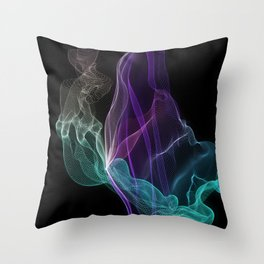 Serenity Aurora String Theory #8 Throw Pillow