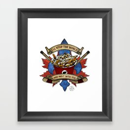 Canadian Salad Framed Art Print