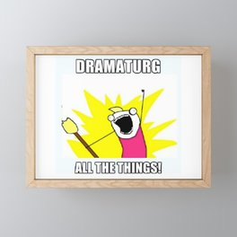 All the Things Framed Mini Art Print
