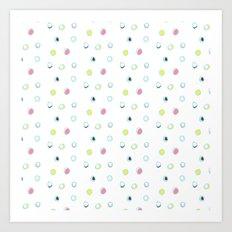 Rosewall buds (on white) Art Print
