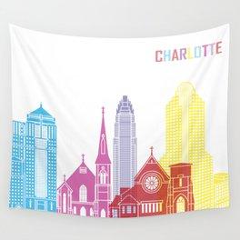 Charlotte skyline pop Wall Tapestry
