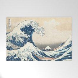 The Great Wave off Kanagawa by Katsushika Hokusai from the series Thirty-six Views of Mount Fuji Welcome Mat