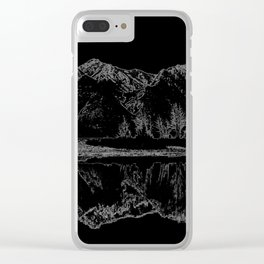 Knik River Mts. Pop Art - 4 Clear iPhone Case