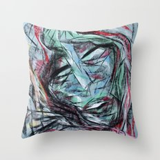 Chalk Face Throw Pillow