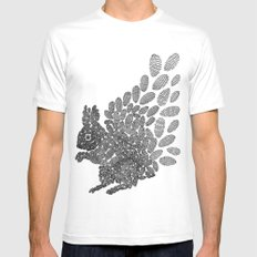 Squirrel Mens Fitted Tee White MEDIUM