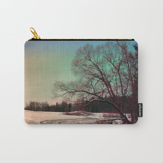 A snowy trail and some trees Carry-All Pouch
