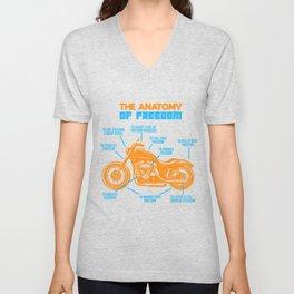 Motorcycle Freedom Chopper Rocker Cruiser Gift Unisex V-Neck