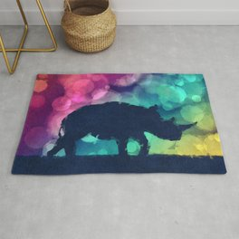 Pop Art Rhinoceros Rug
