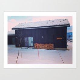 cabane de montagne Art Print