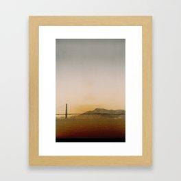 Golden Gate Bridge Pyramid Framed Art Print