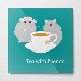 Tea with Friends: Mice Metal Print