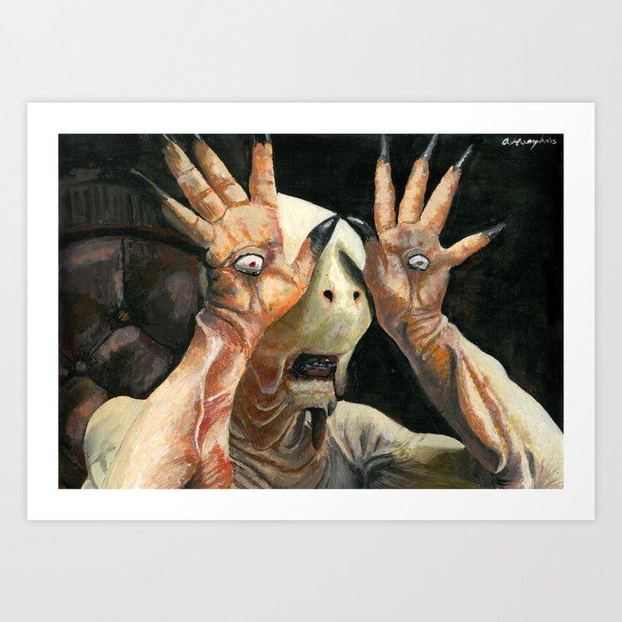 Pale Man Acrylic Painting Art Print
