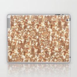 Golden confetti glitter sparkl Laptop & iPad Skin