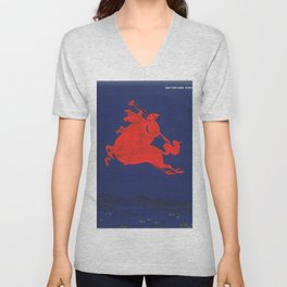 October calling by Chuluun Ch Unisex V-Neck