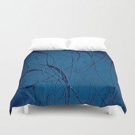 Navy Blue - Jackson Pollock Style - Modern Art Duvet Cover