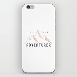 Full Time Adventurer Rosegold Mountains iPhone Skin