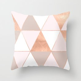 GEO TIKKI - ROSEGOLD PASTEL Throw Pillow