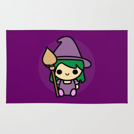 Cute spooky witch Rug