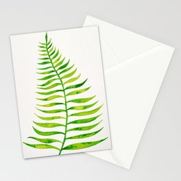 Lime Palm Leaf Stationery Cards