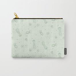 Jellyfish in Green Carry-All Pouch