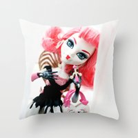 monster high Throw Pillows featuring Monster High  by Jessica Yakamna