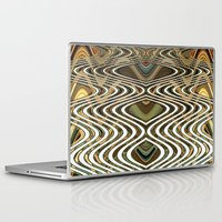 mid century Laptop & iPad Skins featuring Mid Century Wave by Jamie Story
