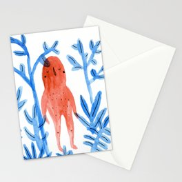 Red Monster on a Blue Jungle Stationery Cards