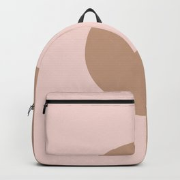 Brown Pastel Pink Minimal Half Circle Design 2021 Color of the Year Canyon Dusk & Cupcake Pink Backpack