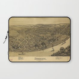 Aerial View of Duquesne, Allegheny County, Pennsylvania (1897) Laptop Sleeve