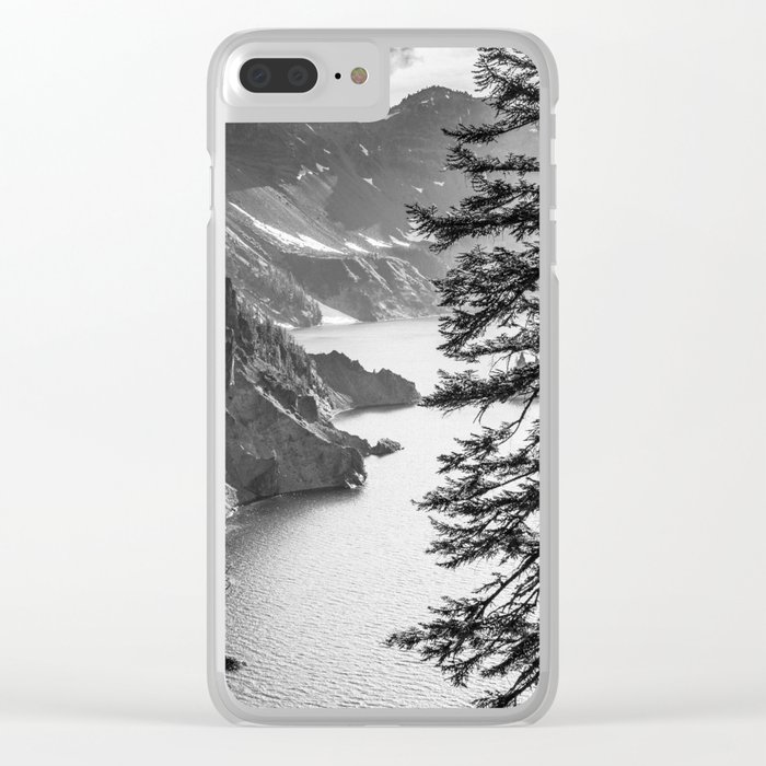 Forest Lake Retreat - Crater Lake Clear iPhone Case