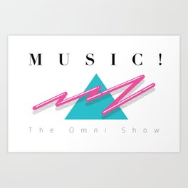 MUSIC EXCLAMATION POINT Art Print