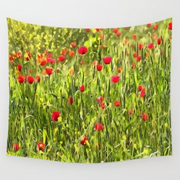 Flanders Poppies Wall Tapestry