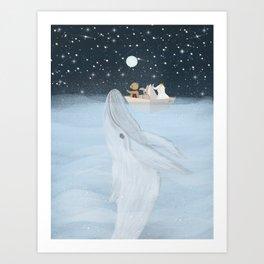 the white whale Art Print