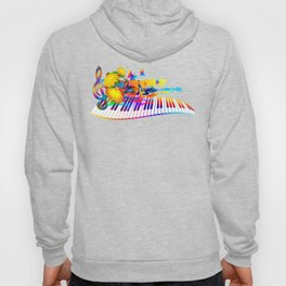Colorful music instruments design Hoody