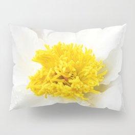 White Krinkled Peony Pillow Sham