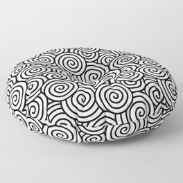 Chinese/Waves Floor Pillow